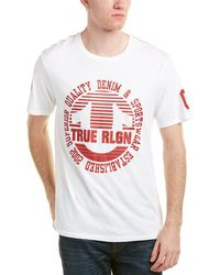 True Religion - Circle Stripe Crew T-shirt - Lyst