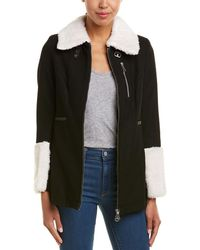 Doma Leather - Leather-trim Wool-blend Jacket - Lyst