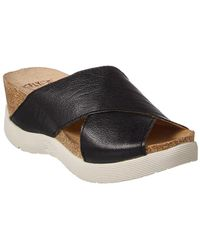 Fly London - Wary Leather Wedge Sandal - Lyst