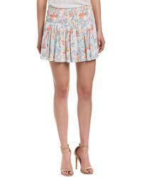 Maje - Smocked Mini Skirt - Lyst