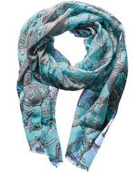 Forte - Forte Sterling Silk, Linen, & Cashmere-blend Scarf - Lyst