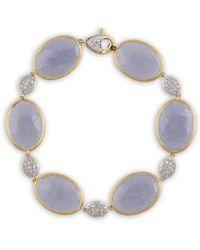 Marco Bicego - Paraidse 18k Two-tone 0.62 Ct. Tw. Diamond & Chalcedony Bracelet - Lyst