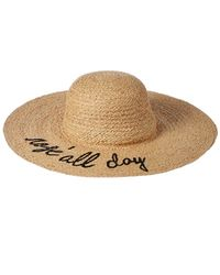 Hat Attack - What's Your Motto Straw Hat - Lyst