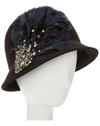 Giovannio - Couture Black Wool Cloche - Lyst