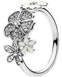 PANDORA - Shimmering Bouquet Ring-7.5 Med/lrg - Lyst