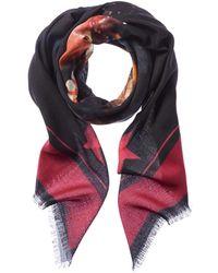 Givenchy - Rottweiler Printed Wool & Silk-blend Scarf - Lyst