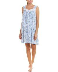 Lyst - Eileen West Dream Garden Cotton Lawn Short Nightgown in Blue 63286d1b3