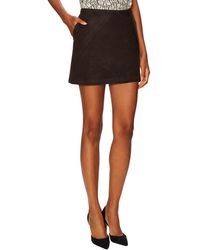 Elorie - Asymmetric Seamed Mini Skirt - Lyst