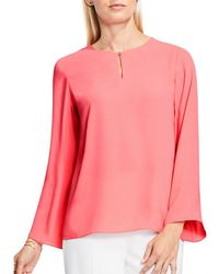 Vince Camuto - Bell Sleeve Keyhole Blouse - Lyst