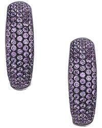 Socheec - Color Stone Jewelry 18k & Silver 1.90 Ct. Tw. Gemstone Hoops - Lyst
