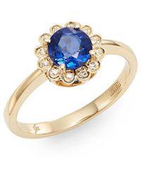 Effy - Fine Jewellery Final Call Sapphire, Diamond & 14k Ring - Lyst