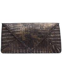 Armenta - Black Crococodile Leather Clutch - Lyst