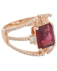 5f2fe3c41 Effy - Fine Jewellery 14k Rose Gold 3.55 Ct. Tw. Diamond & Rhodolite Ring