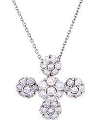 Pasquale Bruni - 18k 0.76 Ct. Tw. Diamond & Sapphire Necklace - Lyst