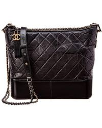 2bff27c6968f Chanel - Black Quilted Lambskin Leather Gabrielle Hobo - Lyst