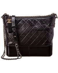 Chanel - Black Quilted Lambskin Leather Gabrielle - Lyst