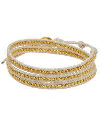 Chan Luu - 18k Over Silver Leather Wrap Bracelet - Lyst