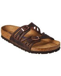 Birkenstock - Granada Oiled Leather Sandal - Lyst
