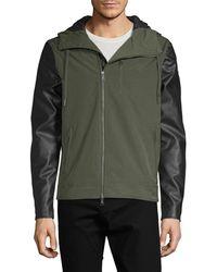 Armani Exchange - Hooded Zip-up Jacket - Lyst