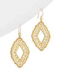 Miguel Ases - 18k Plated Beaded Earrings - Lyst
