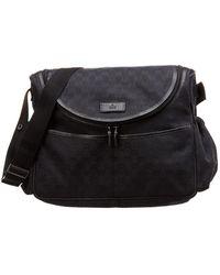21eccc3fc67e Gucci - Black GG Canvas & Leather Diaper Bag - Lyst