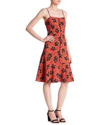 SUNO - Flare Hem Tank Dress - Lyst