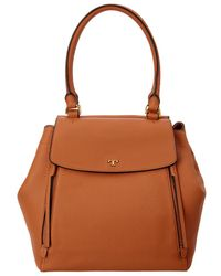Tory Burch - Half-moon Leather Tote - Lyst
