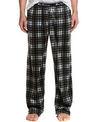 Ben Sherman - Black Plaid Fleece Lounge Pant - Lyst
