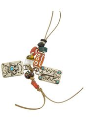 Valentino - Mixed Charm Necklace - Lyst