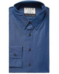 Thomas Pink - Caldicot Solid Super Slim Fit Dress Shirt - Lyst