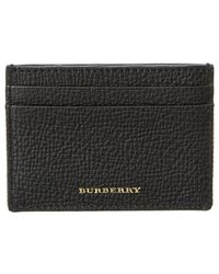 Burberry - House Check & Grainy Leather Card Case - Lyst