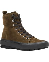 Frye - Ryan Military Suede Trainer - Lyst