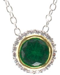 CZ by Kenneth Jay Lane - Rhodium Plated Necklace - Lyst