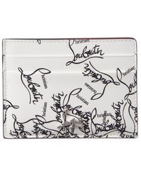 Christian Louboutin Kios Patent Card Holder - White