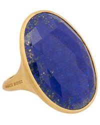 Marco Bicego - Lunaria 18k Yellow Gold Lapis Ring - Lyst