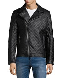 American Stitch - Quilted Moto Jacket - Lyst