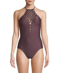Mikoh Swimwear - One-piece Halter Swimsuit - Lyst