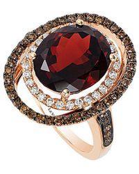 Le Vian - ? 14k Rose Gold 6.13 Ct. Tw. Diamond & Garnet Ring - Lyst