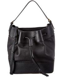 Loewe Midnight Leather Bucket Bag - Black