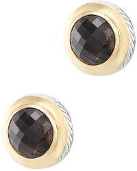 David Yurman - David Yurman Cable 18k & Silver 20.00 Ct. Tw. Smoky Quartz Drop Earrings - Lyst
