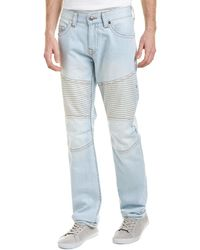 True Religion - Sandy Wind Moto Slim Leg - Lyst