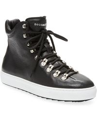 DSquared² - High Top Leather Trainers - Lyst