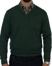 Robert Talbott - Aptos Wool V-neck Jumper - Lyst