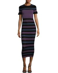 Torn By Ronny Kobo - Stripe Sheath Dress - Lyst