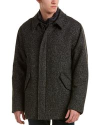 Canali - Wool & Silk-blend Car Coat - Lyst