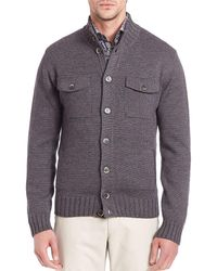 Saks Fifth Avenue - Stand Collar Wool Jumper - Lyst