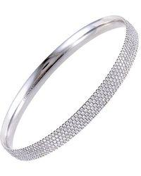 Heritage Tiffany & Co. Tiffany & Co. 18k 5.17 Ct. Tw. Diamond Bangle - Metallic