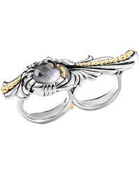 Stephen Webster - Men's Silver Cat's Eye Quartz Double Finger Ring - Lyst