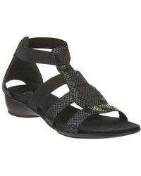 Munro - Zena Leather Sandal - Lyst