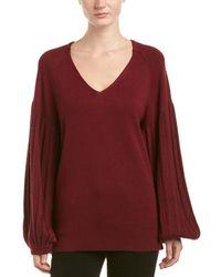 Ella Moss - Blouson Sleeve Wool-blend Jumper - Lyst